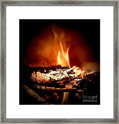 Framed Print featuring the photograph Flame by Denise Tomasura