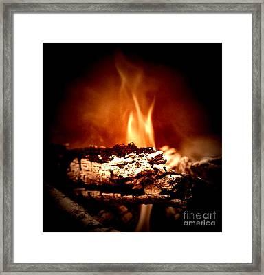 Flame Framed Print by Denise Tomasura