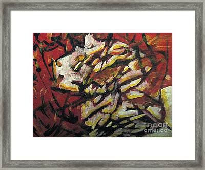 Framed Print featuring the painting Flame-hearted by Wendy Coulson