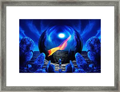 Flame Within... Framed Print