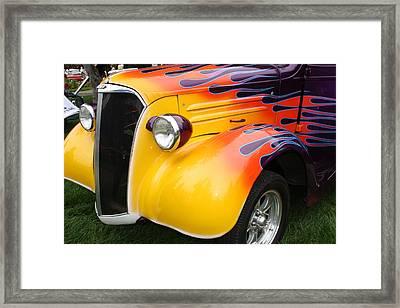 Flame Job Framed Print by Terry Fleckney