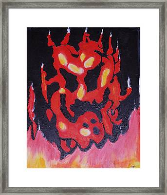Flame Land Framed Print