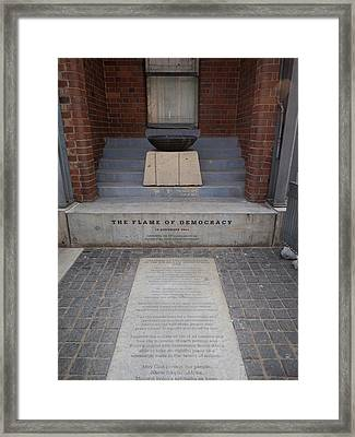 Flame Of Democracy, Constitution Hill Framed Print by Panoramic Images