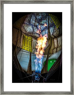 Flame On Framed Print by Bob Orsillo
