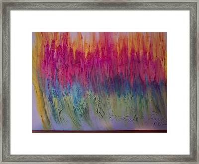 Flame On Framed Print by Martin Fried MD