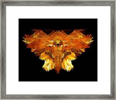 Framed Print featuring the digital art Flame Rider by R Thomas Brass