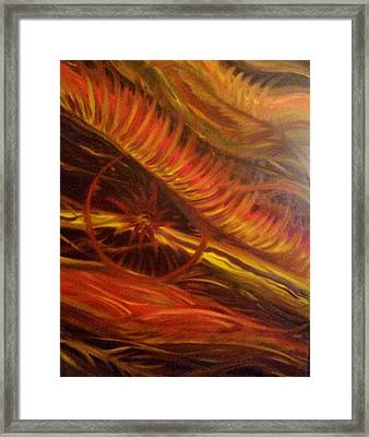 Flame Run Framed Print by Adriana Garces