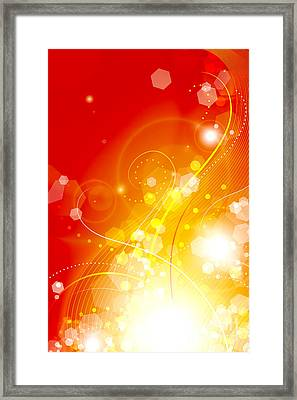 Flame Framed Print by Sandra Hoefer