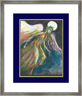 Flame With Faux Mat Border Framed Print by Melinda Dare Benfield