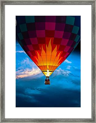 Flame With Flame Framed Print by Bob Orsillo
