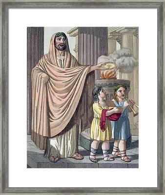 Flamen, 1796 Framed Print by Jacques Grasset de Saint-Sauveur
