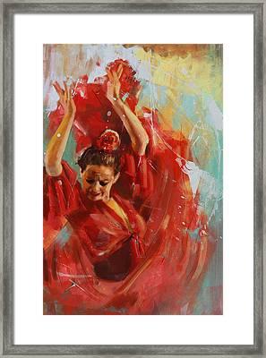 Flamenco 33 Framed Print by Maryam Mughal