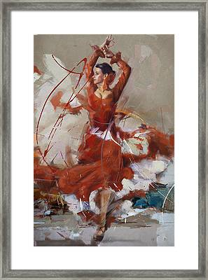 Flamenco 37 Framed Print by Maryam Mughal