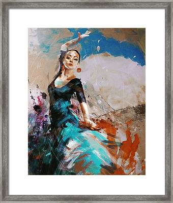 Flamenco 42 Framed Print by Maryam Mughal