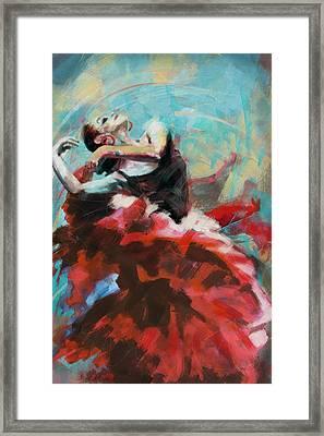 Flamenco 45 Framed Print by Maryam Mughal