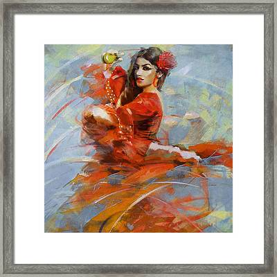 Flamenco 47 Framed Print by Maryam Mughal