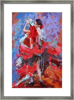 Flamenco 48 Framed Print by Maryam Mughal
