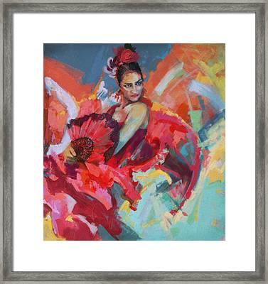 Flamenco 49 Framed Print by Maryam Mughal