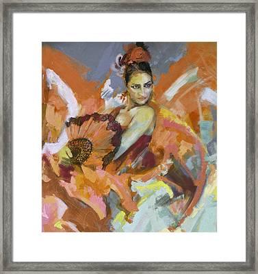 Flamenco 51 Framed Print by Maryam Mughal