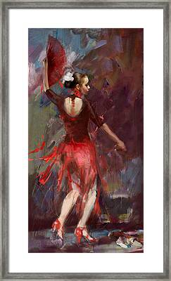 Flamenco 52 Framed Print by Maryam Mughal
