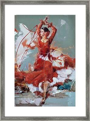 Flamenco 55 Framed Print by Maryam Mughal