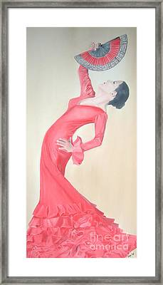 Flamenco Framed Print by Angela Melendez