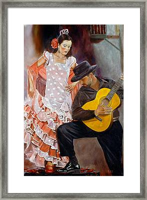 Framed Print featuring the painting Flamenco Charm by Rick Fitzsimons