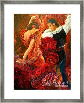 Flamenco Couple Aa Framed Print