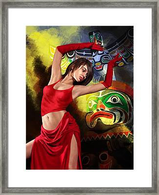 Flamenco Dancer 010 Framed Print