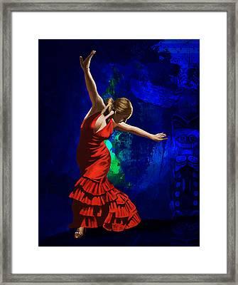 Flamenco Dancer 014 Framed Print by Catf