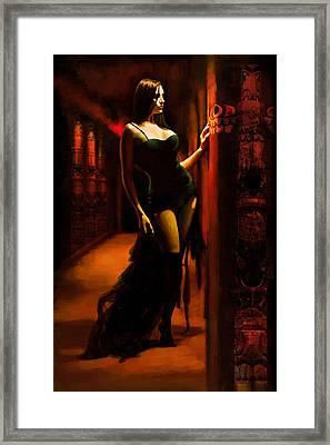 Flamenco Dancer 015 Framed Print by Catf