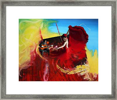 Flamenco Dancer 016 Framed Print by Catf