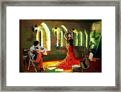 Flamenco Dancer 017 Framed Print by Catf