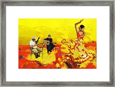 Flamenco Dancer 018 Framed Print