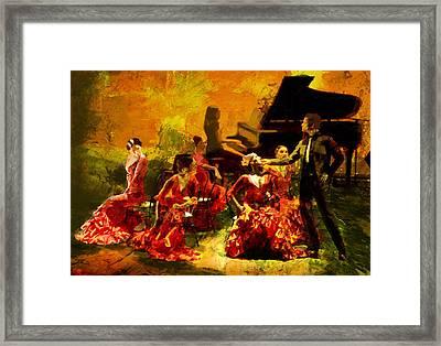 Flamenco Dancer 020 Framed Print by Catf