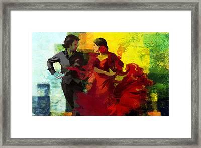 Flamenco Dancer 025 Framed Print by Catf