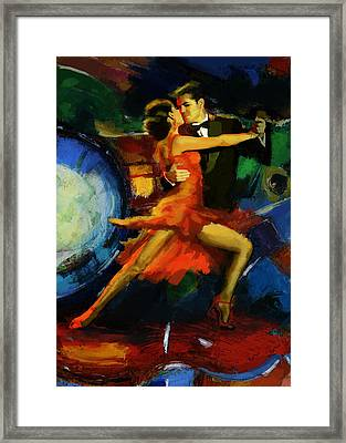 Flamenco Dancer 029 Framed Print by Catf