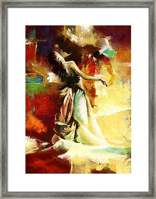 Flamenco Dancer 032 Framed Print by Catf
