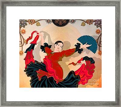 Flamenco Dancer Framed Print by Bedros Awak
