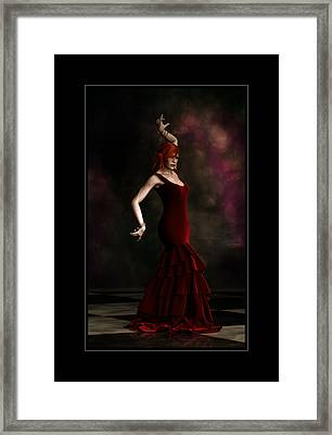 Flamenco Dancer Frame Framed Print by Shanina Conway