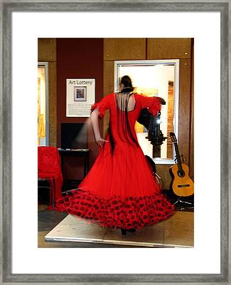 Flamenco Dancer Framed Print by Gerry Bates