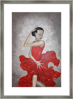 Flamenco Dancer I Framed Print by Mariya Kazarinova