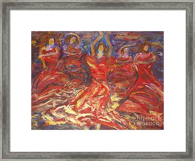 Flamenco Dancers Framed Print by Fereshteh Stoecklein