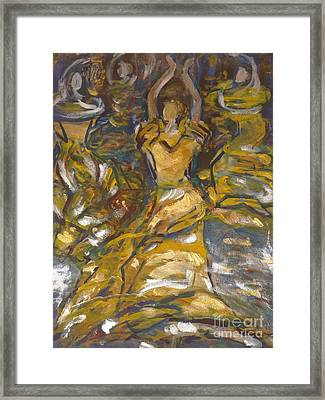 Flamenco Dancing Framed Print by Fereshteh Stoecklein