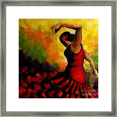 Flamenco Framed Print by Mona Edulesco