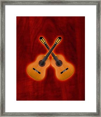 Flamenco  Guitar  Framed Print