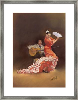 Flamenco Framed Print by Margaret Merry
