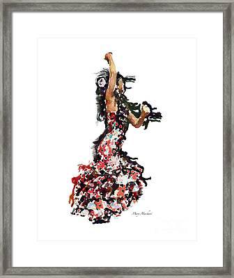 Flamenco Series #12 Framed Print by Mary Machare