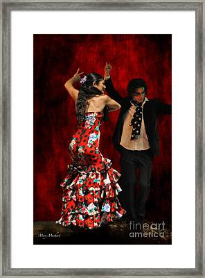 Flamenco Series #9 Framed Print by Mary Machare