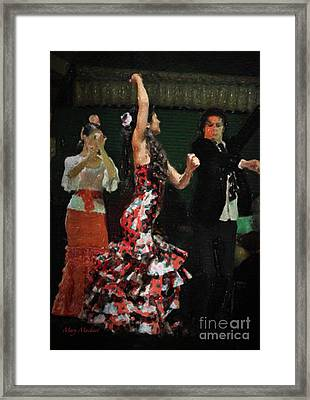 Flamenco Series No 13 Framed Print by Mary Machare